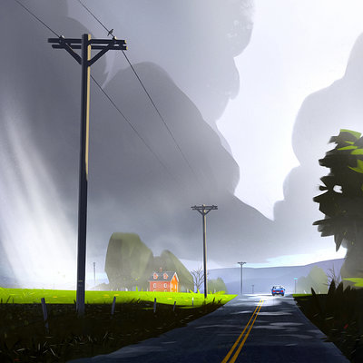 Christopher balaskas stormy road as