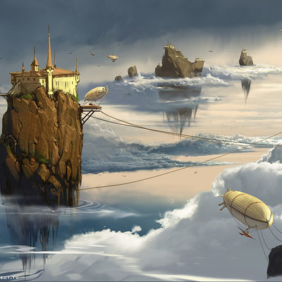 Sviatoslav gerasimchuk floating islands zeppelin