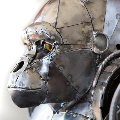 Andrew chase mechanical metal gorilla closeup 2