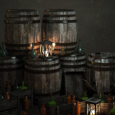 Ste flack bottles and barrels
