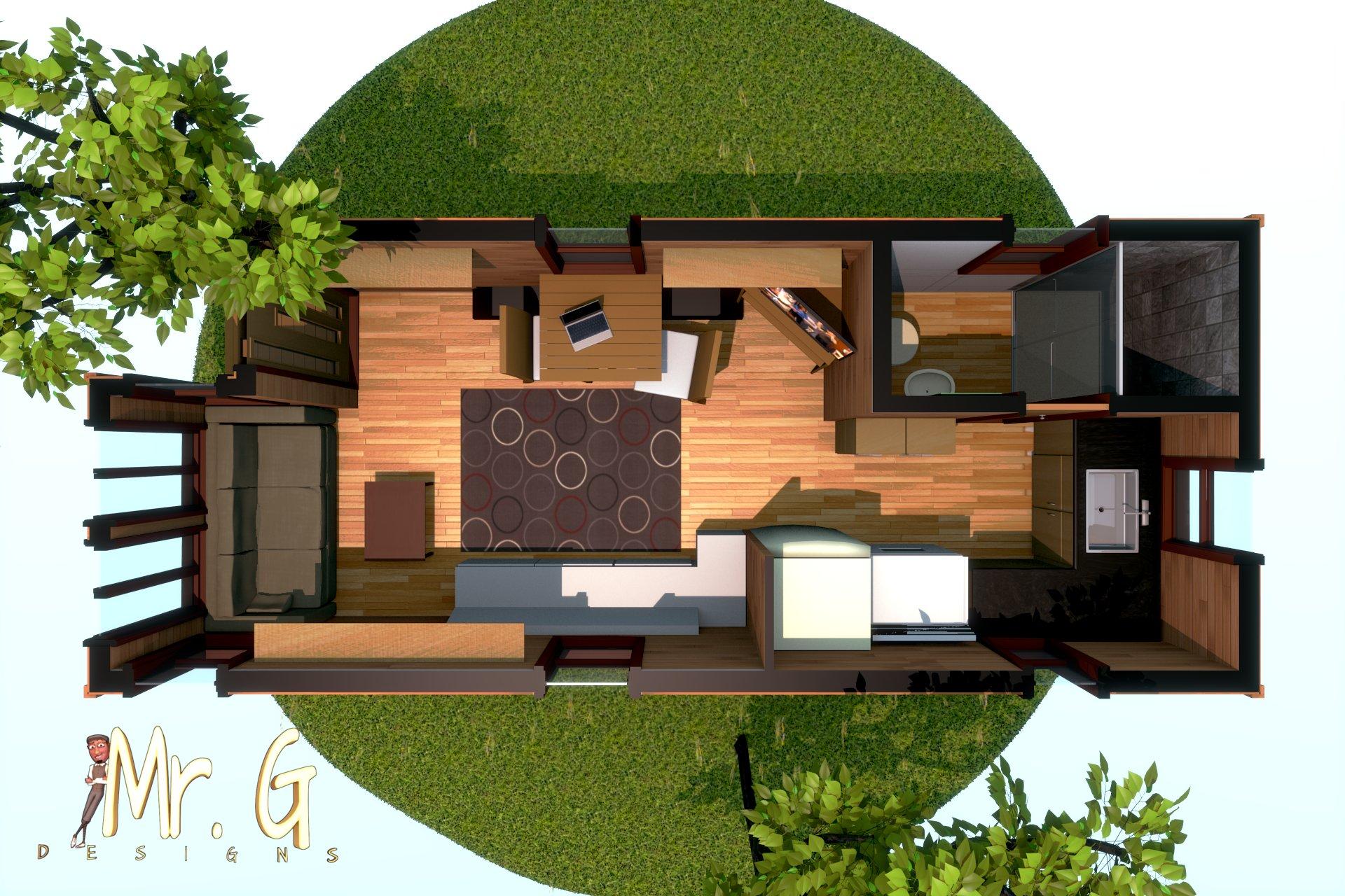 garrett s tiny house 3d floor plan model