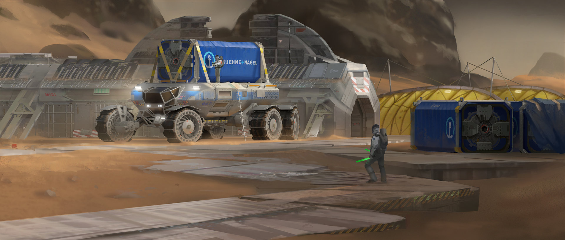 Heavy Mars Rover - Containers