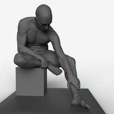 Fabien yorgandjian seated man 01