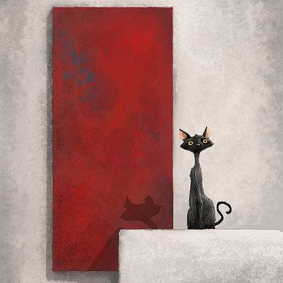 Thijs de vries cat art