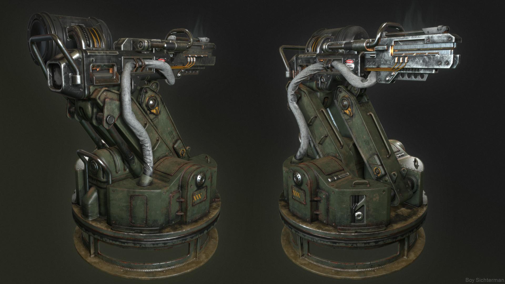 Rail turret