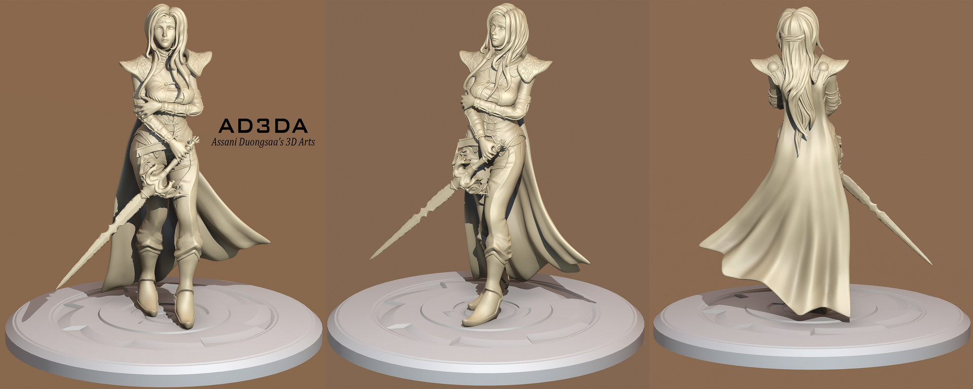 Final Fantasy VI - Celes Chere Re-Mastered - Sculpt