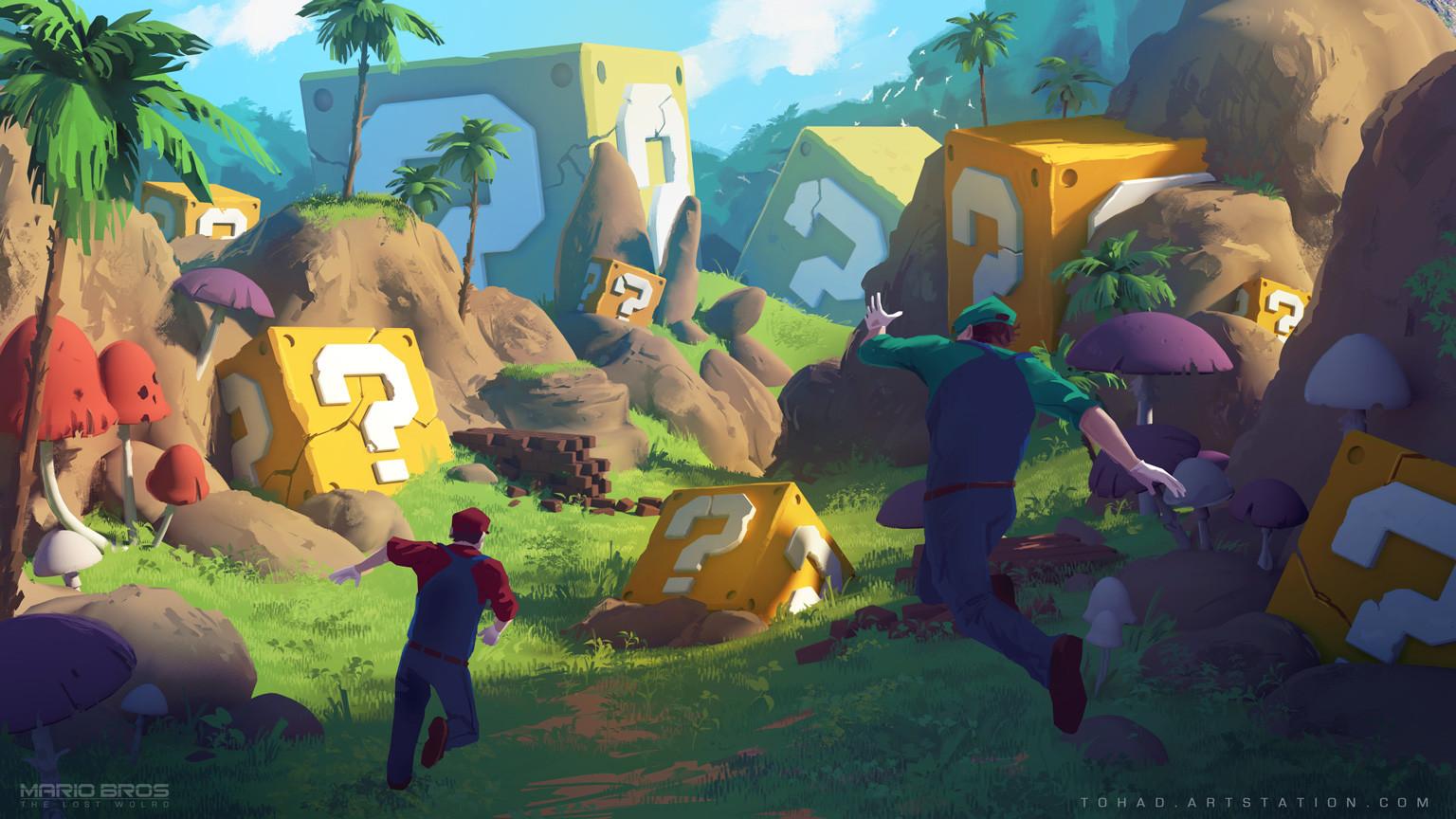 Mario Bros : The Lost World, environment concept