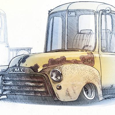 Alexis taccoen gmc pickup 53 sketch5