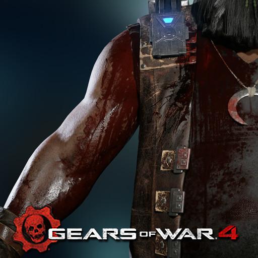 Gears of War 4: Oscar (Wound texture pass)