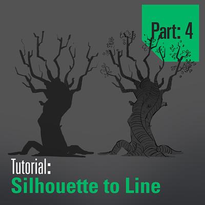 Tim kaminski tutorial trees sillhouette to line part 4 artstation
