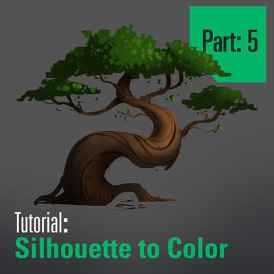 Tim kaminski tutorial trees sillhouette to color part 5 artstation