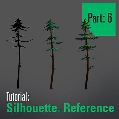 Tim kaminski tutorial trees sillhouette as reference part 6 artstation