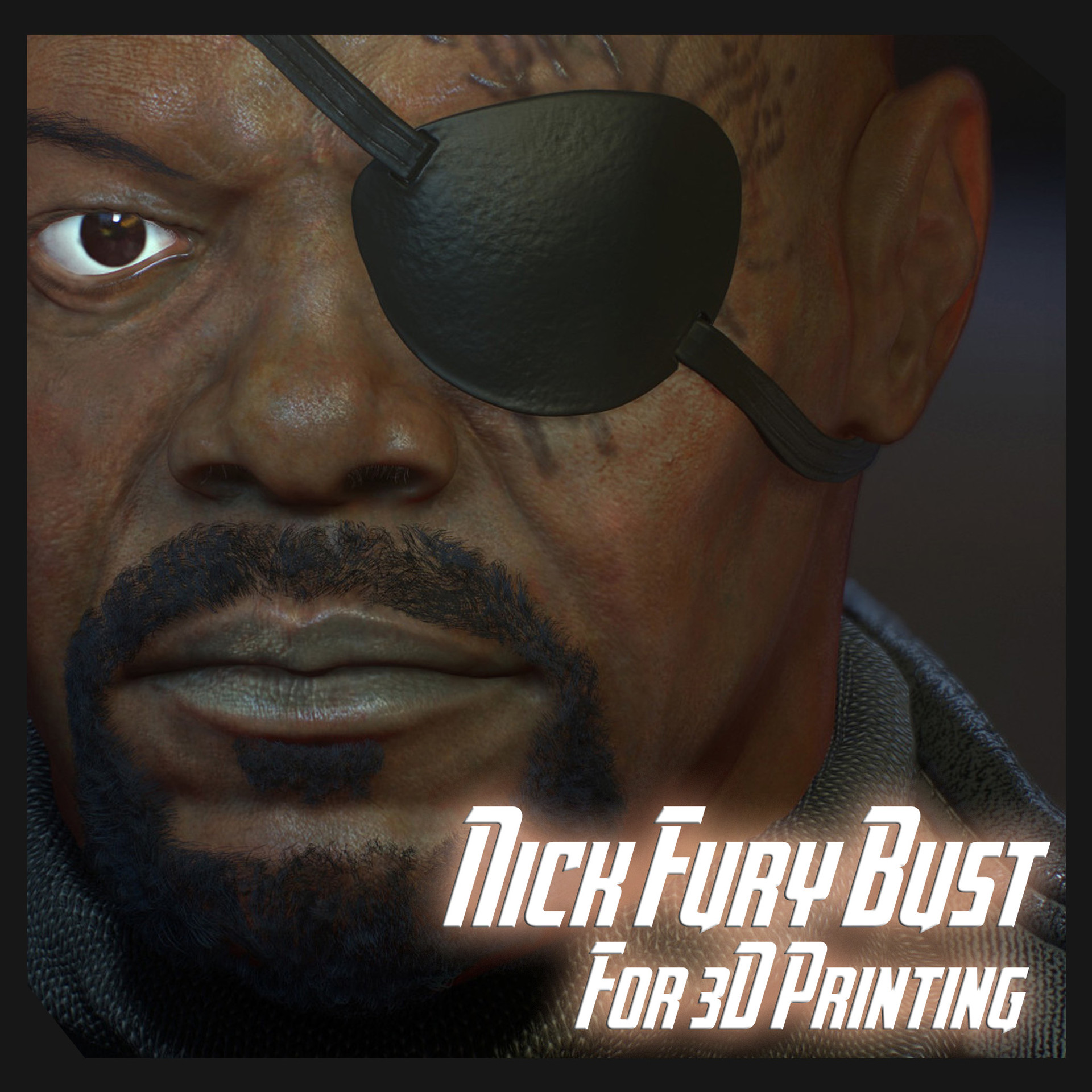 Nick Fury Bust For 3D Printing.