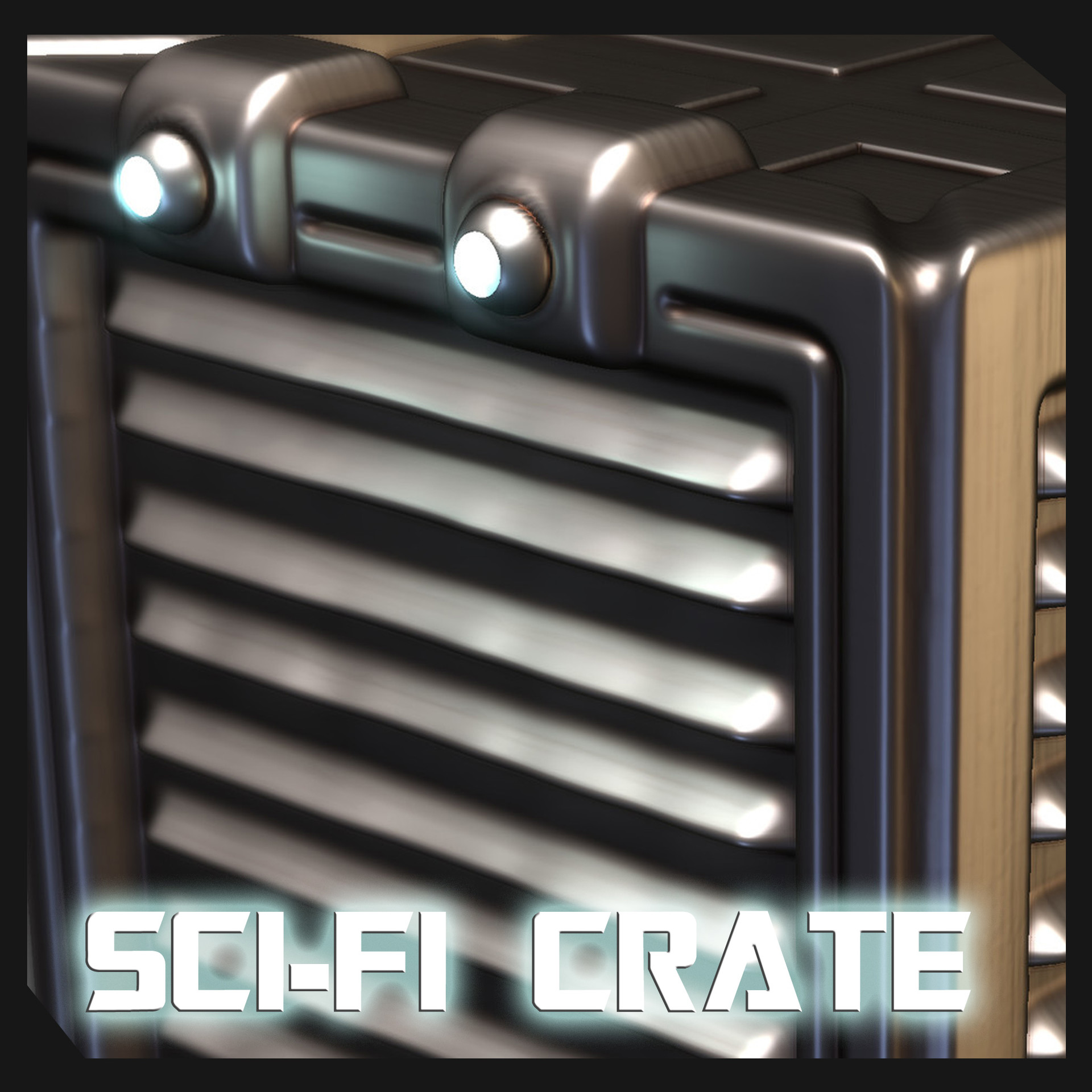 SCI-FI Crate Sketch and testing hard surface VDMs