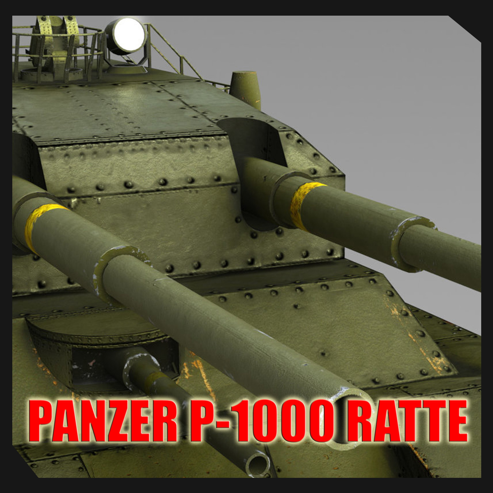 Panzer P-1000 Ratte Landkreuzer Tank By Sergio Mengual
