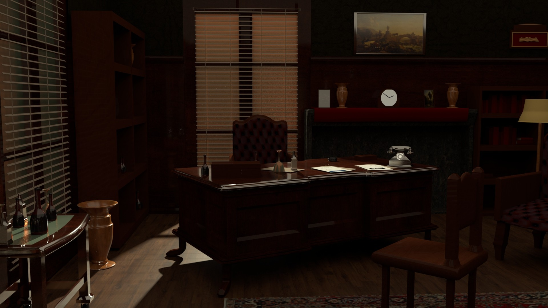 Artstation The Godfather S Office 3d Recreation Tyler