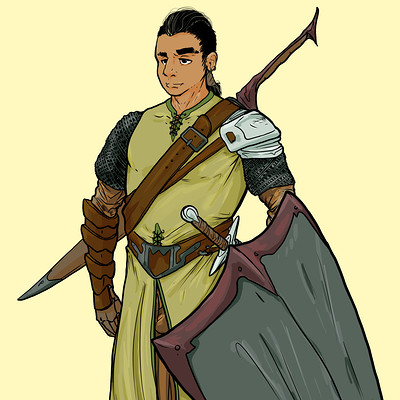 Conner hannin character design for comic finished