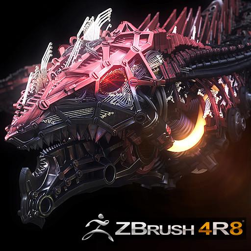 Zbrush 4R8 beta test Dragon