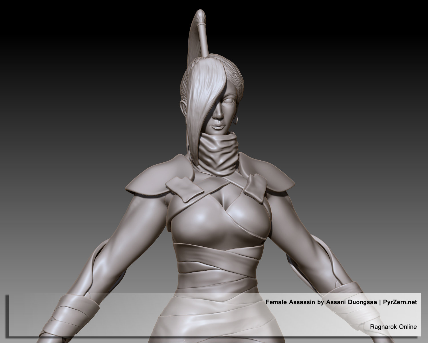 Sculpting - Ragnarok Online Female Assassin