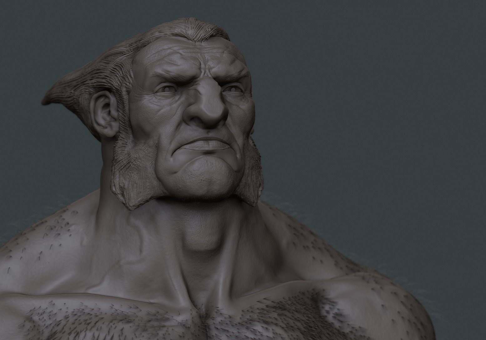 Wolvie clay face