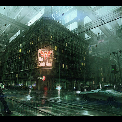 Inner city block  mood
