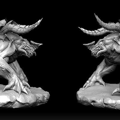 Monster doodle sculpt by audreee d6xnu7k