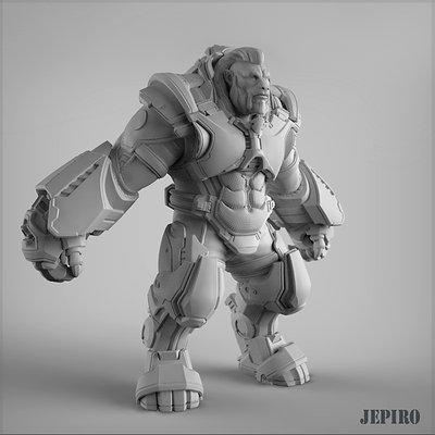 Armored mutant hirez  back