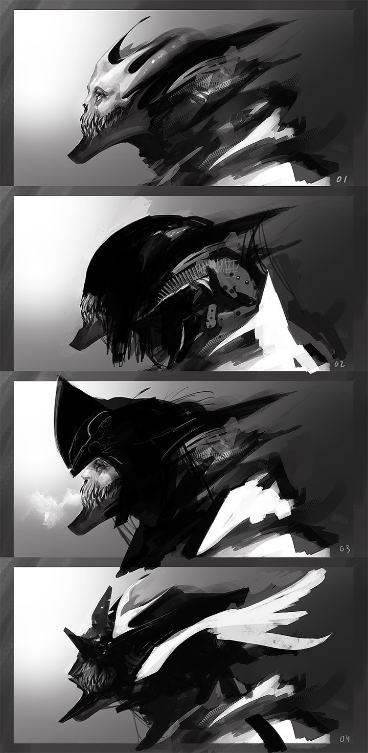 Alexandre chaudret sketches characters head04