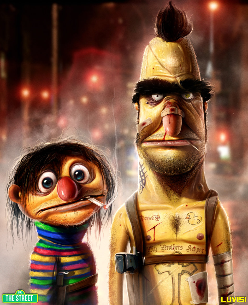 Dan luvisi bert and ernie my brother s keeper by danluvisiart d64jvgq