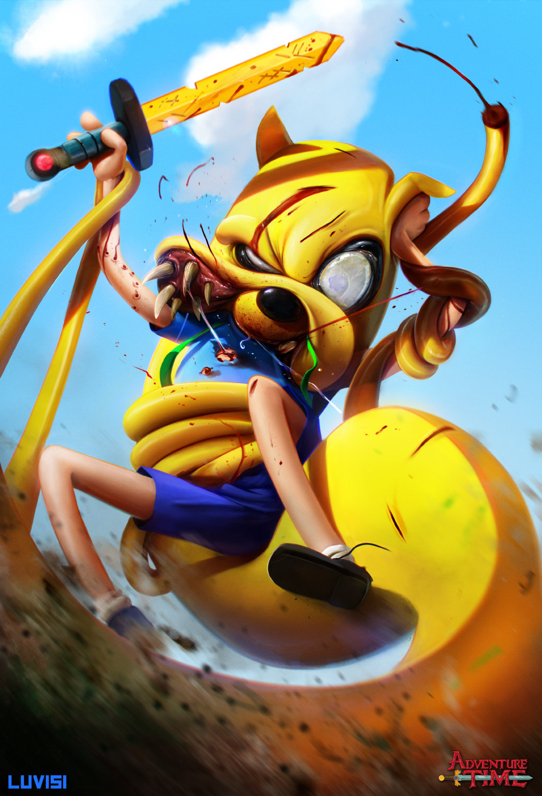 Dan luvisi jake the snake adventure time by danluvisiart d7douwt