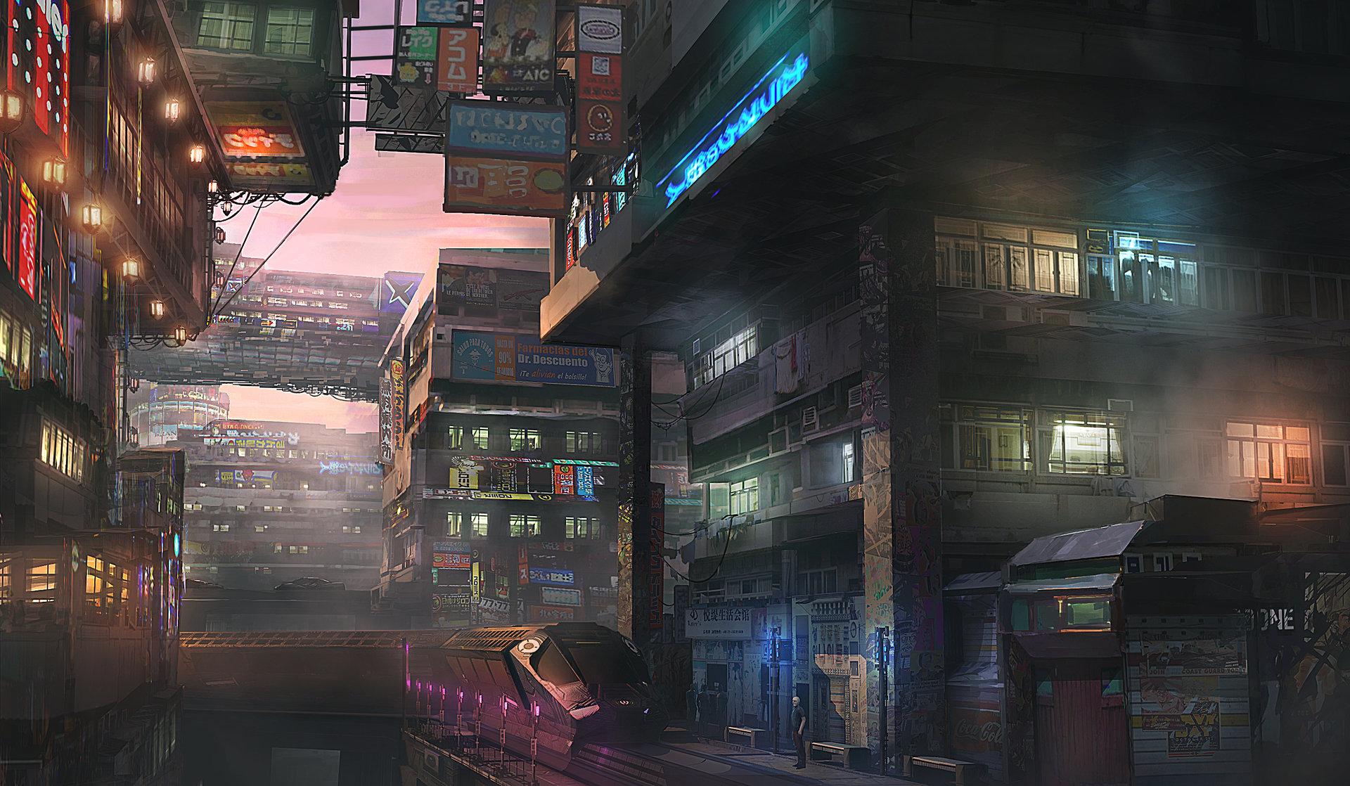 Maxime delcambre cd3 sci fi town bidon ville15