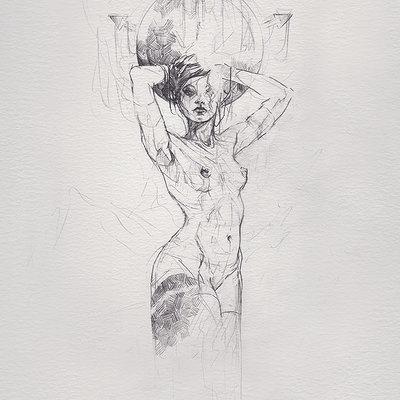 Bastien lecouffe deharme the scar sketch