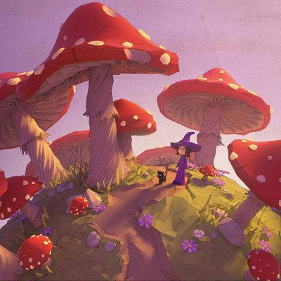 Milan vasek lowpoly mushroomland