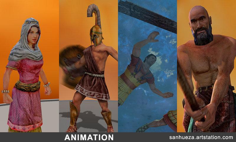David sanhueza sanhueza character reel