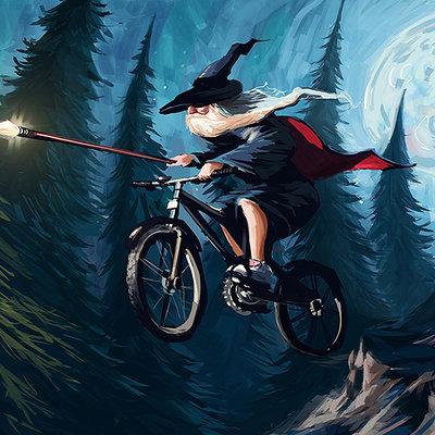 Tom mcgrath wizard on a bike