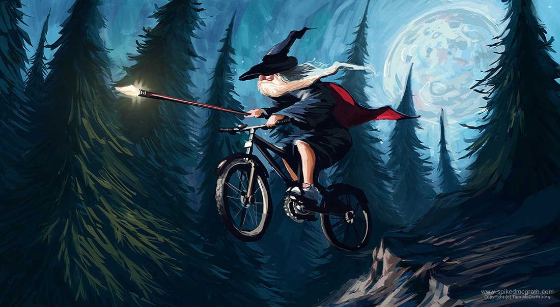 Tom mcgrath wizard on a bike
