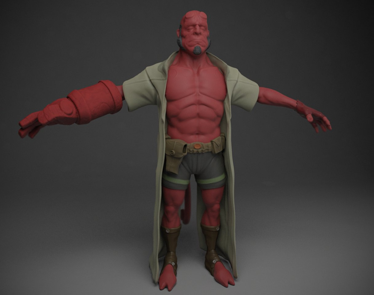 Matthew kean framedworld hellboy test render