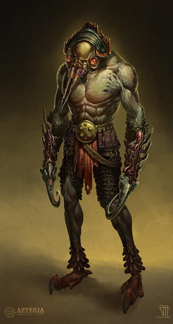 Aztekia concept, warrior character