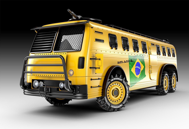 Jomar machado world cup bus