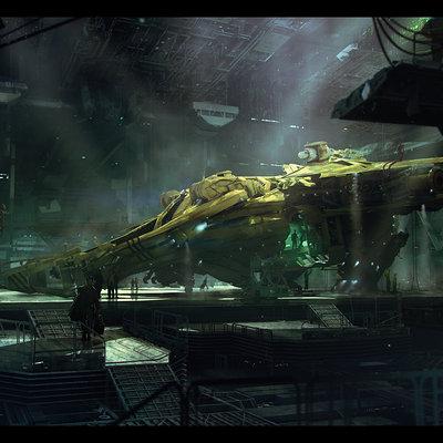 Brad wright ship in hanger