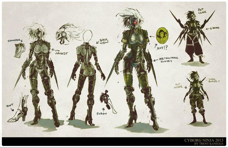 ArtStation - Cyborg Ninja Concept Art, Trent Kaniuga ...