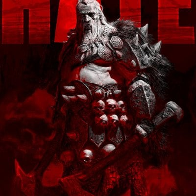 Adrian smith hate tyrant portrait with red