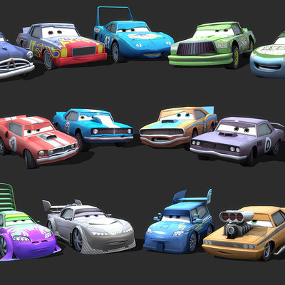 Mark van haitsma cars character collage 2