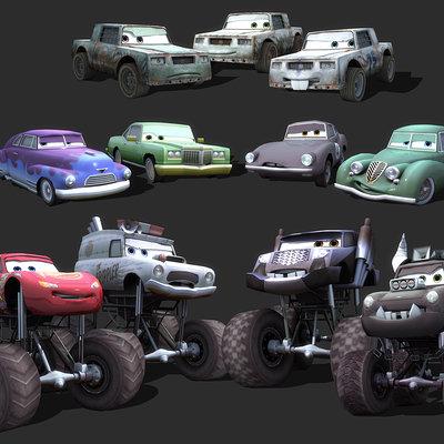 Mark van haitsma cars character collage 3