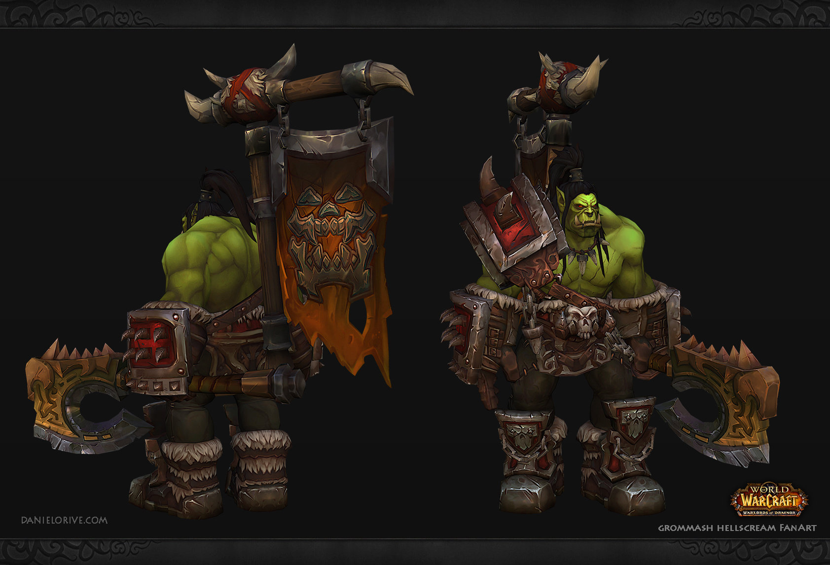 World of Warcraft Fan Art - Grommash Hellscream