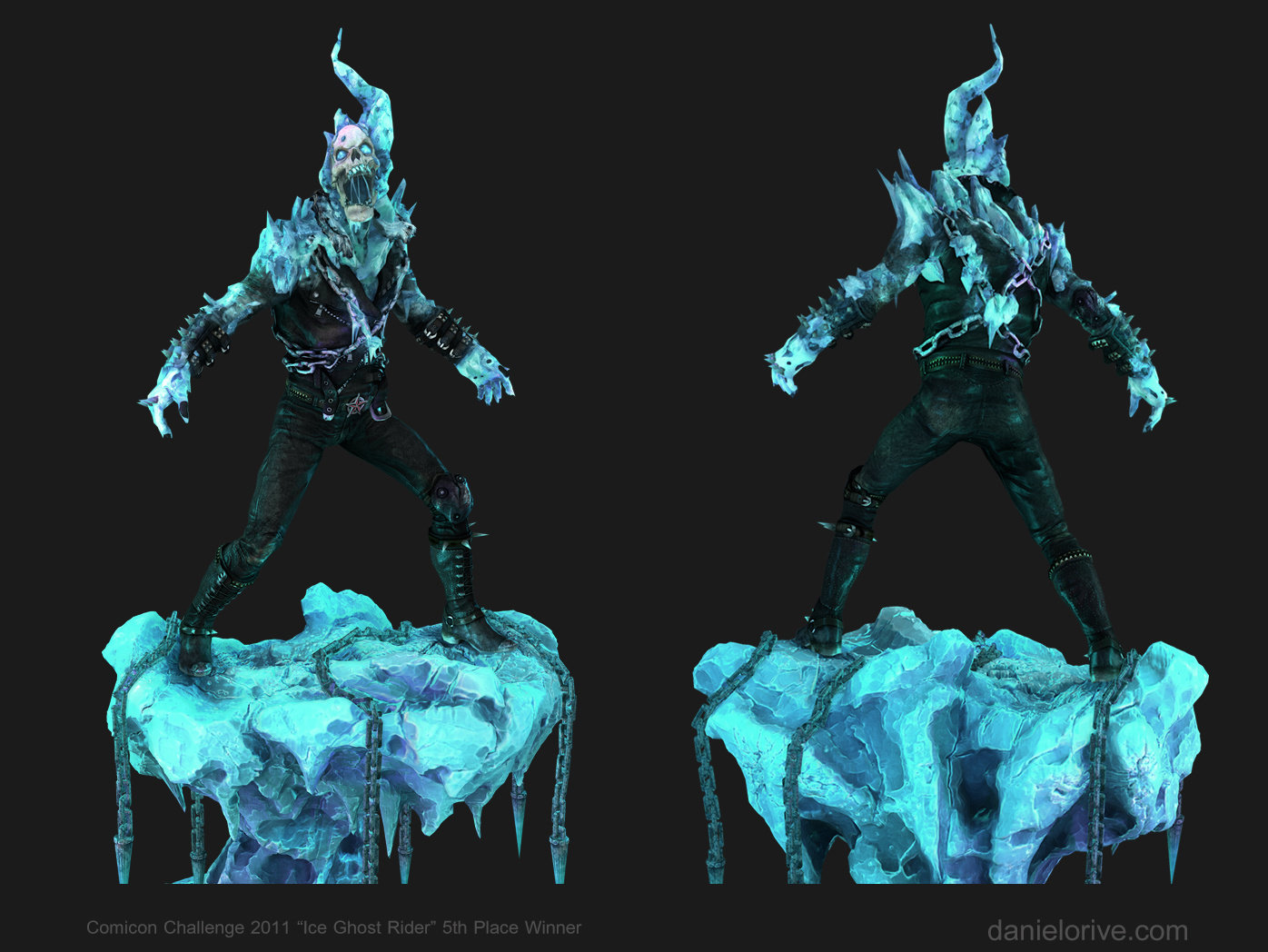 "Ice ghost rider "" Comicon challenge 2011"""