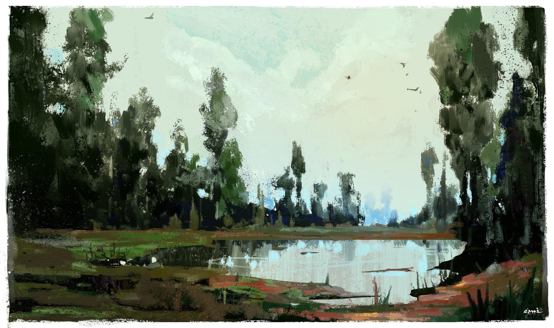 Ahmed rawi oil landscape 1