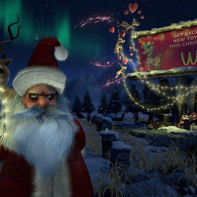 Christmas angry santa