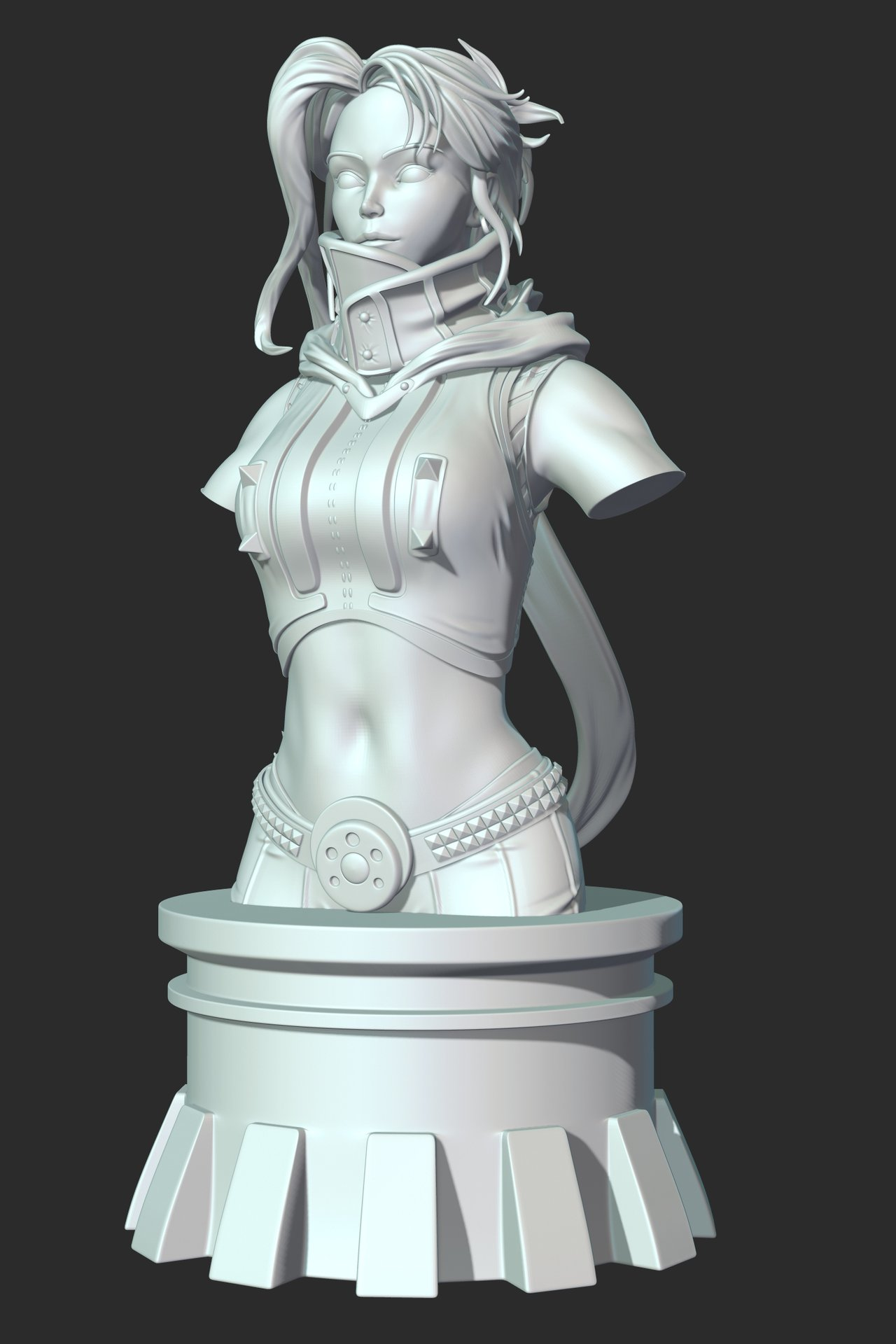 the Kung Fu girl Bust - Sculpt