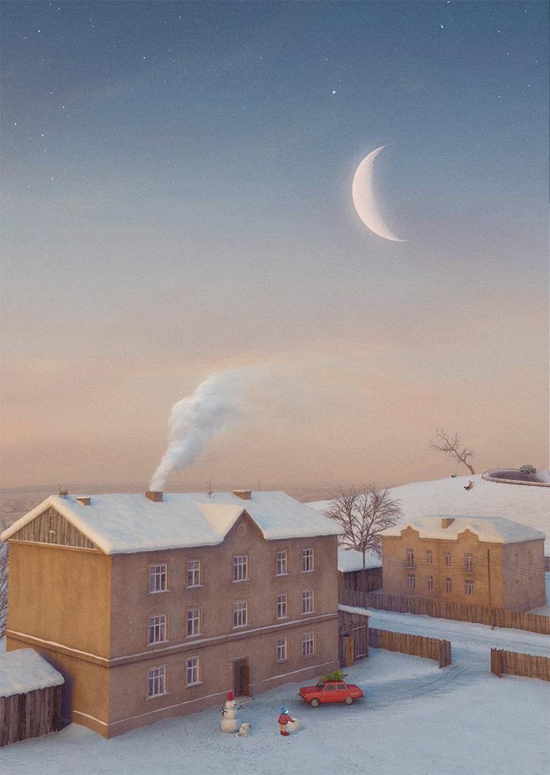 Toms seglins cgtalk wintercards 2